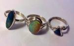3 Opal rings